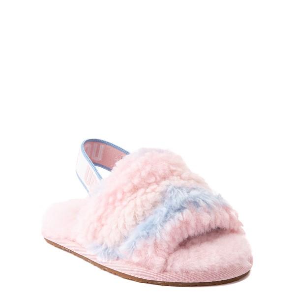alternate view UGG® Fluff Yeah Pride Slide Sandal - Toddler / Little Kid - Pastel MulticolorALT5