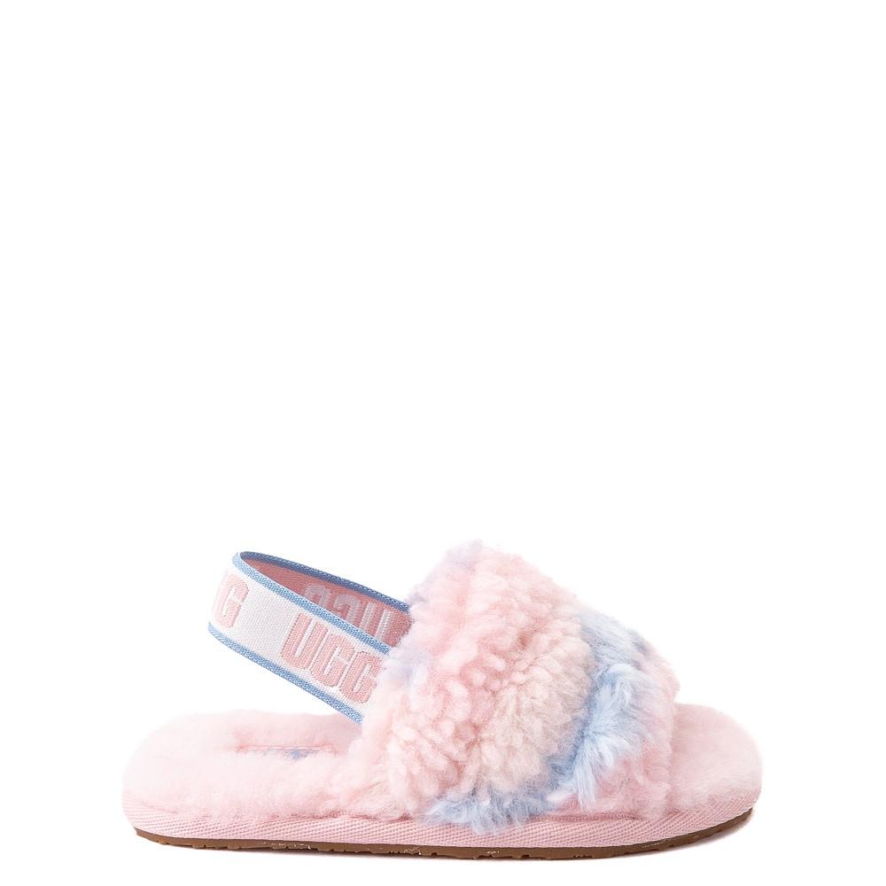UGG® Fluff Yeah Pride Slide Sandal - Toddler / Little Kid - Pastel Multicolor