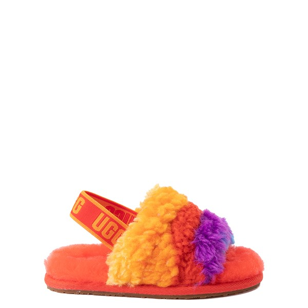UGG® Fluff Yeah Pride Slide Sandal - Toddler / Little Kid - Rainbow