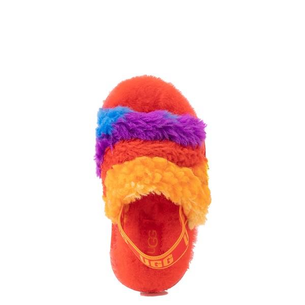 alternate view UGG® Fluff Yeah Pride Slide Sandal - Toddler / Little Kid - RainbowALT2