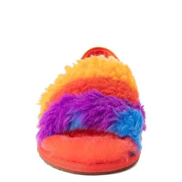 alternate view UGG® Fluff Yeah Pride Slide Sandal - Toddler / Little Kid - RainbowALT4