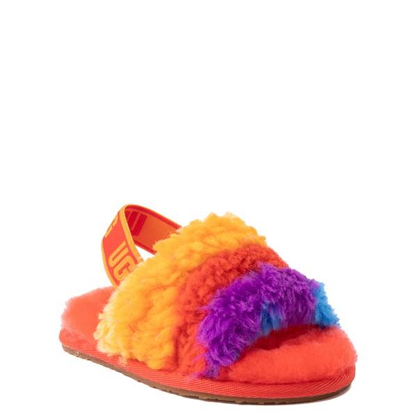 alternate view UGG® Fluff Yeah Pride Slide Sandal - Toddler / Little Kid - RainbowALT5