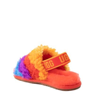 Alternate view of UGG® Fluff Yeah Pride Slide Sandal - Toddler / Little Kid - Rainbow