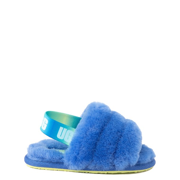 Main view of UGG® Fluff Yeah Slide Sandal - Toddler / Little Kid - Mystic Blue