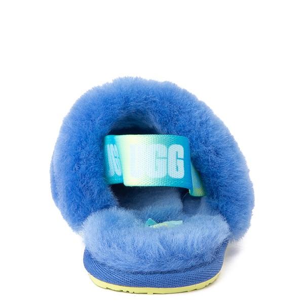 alternate view UGG® Fluff Yeah Slide Sandal - Toddler / Little Kid - Mystic BlueALT4