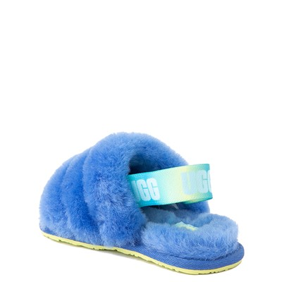 Alternate view of UGG® Fluff Yeah Slide Sandal - Toddler / Little Kid - Mystic Blue