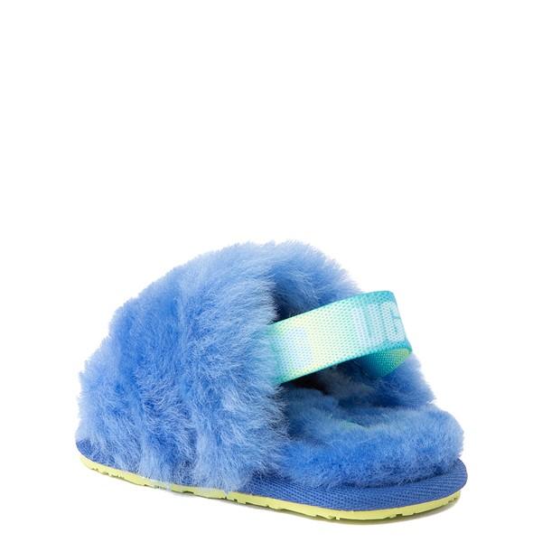 alternate view UGG® Fluff Yeah Slide Sandal - Baby / Toddler - Mystic BlueALT1