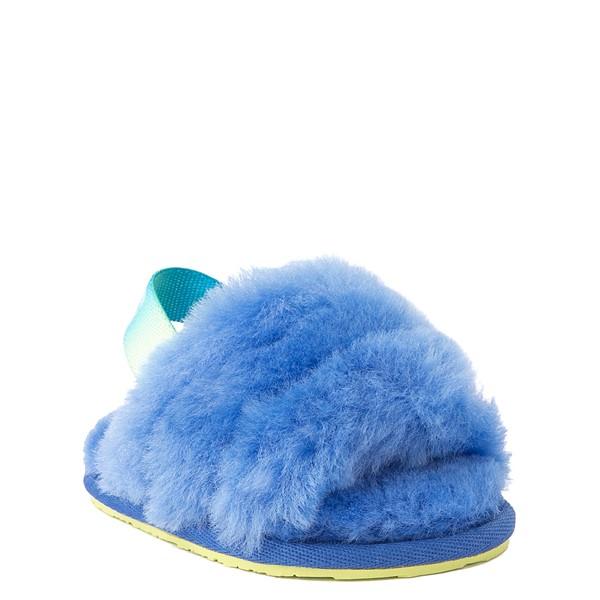 alternate view UGG® Fluff Yeah Slide Sandal - Baby / Toddler - Mystic BlueALT5