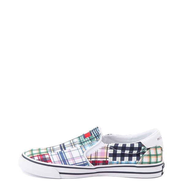 alternate view Womens Tommy Hilfiger Oaklyn Patchwork Casual Shoe - White / GreenALT1