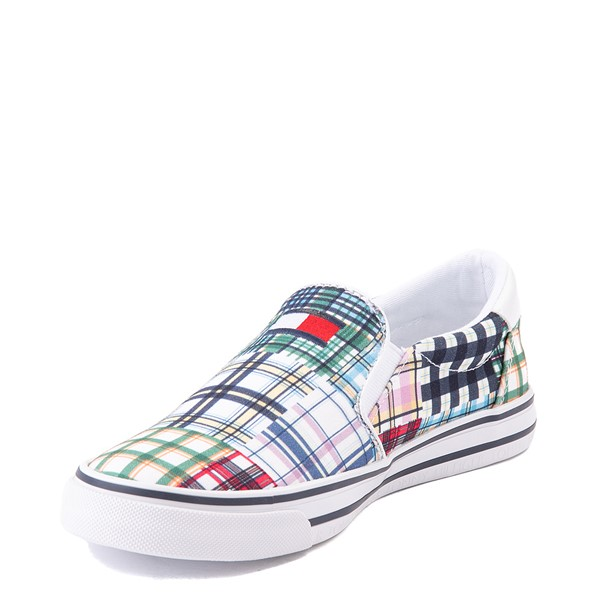 alternate view Womens Tommy Hilfiger Oaklyn Patchwork Casual Shoe - White / GreenALT2