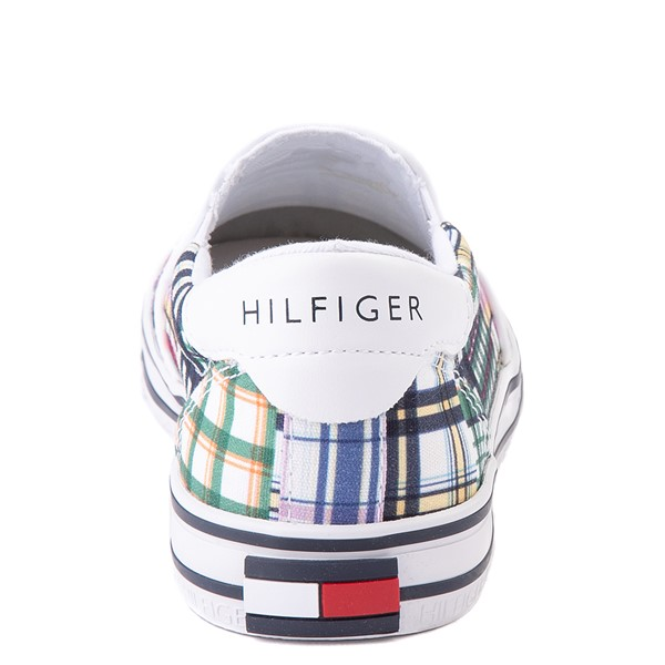 alternate view Womens Tommy Hilfiger Oaklyn Patchwork Casual Shoe - White / GreenALT4