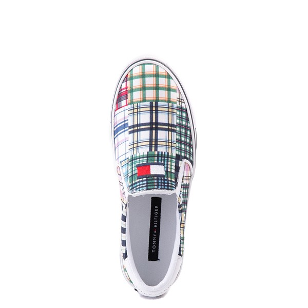 alternate view Womens Tommy Hilfiger Oaklyn Patchwork Casual Shoe - White / GreenALT4B