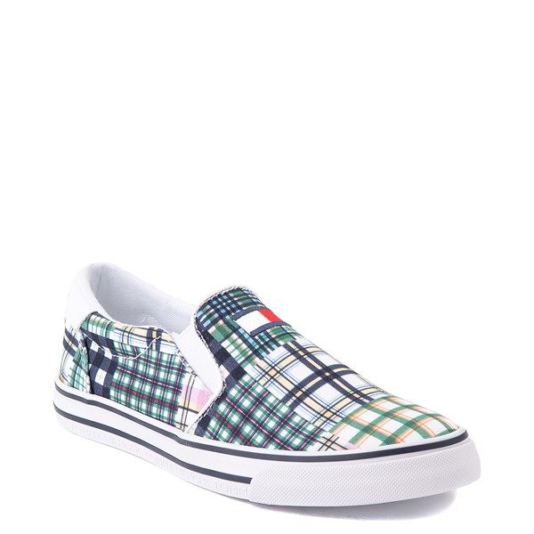 alternate view Womens Tommy Hilfiger Oaklyn Patchwork Casual Shoe - White / GreenALT5