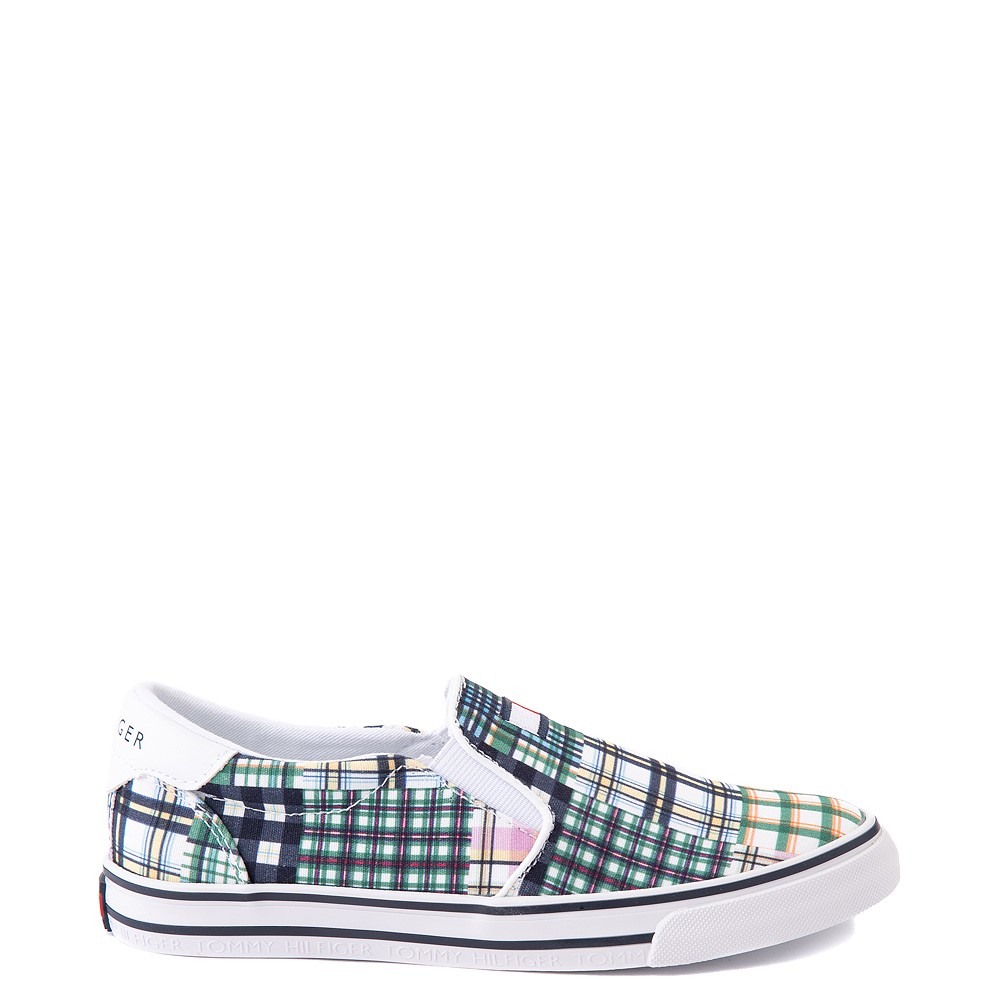 Womens Tommy Hilfiger Oaklyn Patchwork Casual Shoe - White / Green