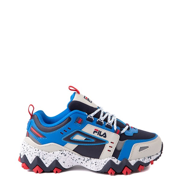 Fila Oakmont TR Athletic Shoe - Big Kid - Silver Birch / Black / Electric Blue