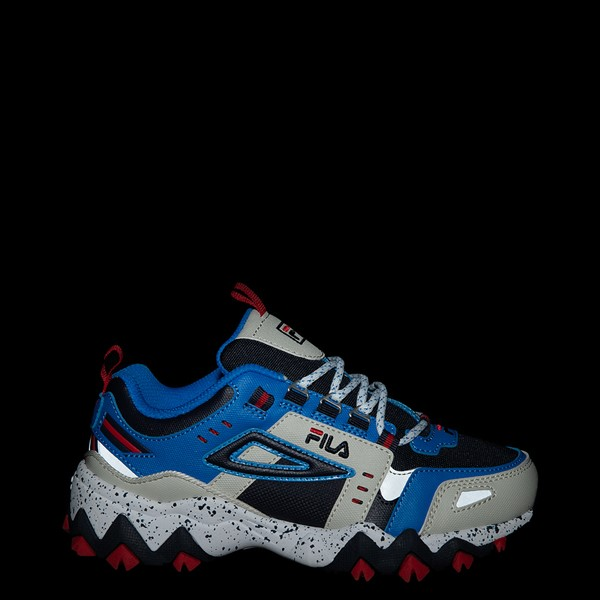 alternate view Fila Oakmont TR Athletic Shoe - Big Kid - Silver Birch / Black / Electric BlueALT1