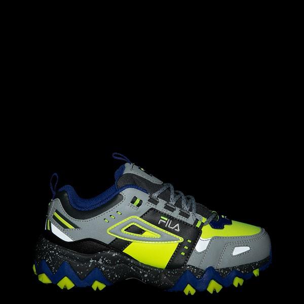 alternate view Fila Oakmont TR Athletic Shoe - Big Kid - Safety Yellow / Dark Shadow / Mazarine BlueALT1