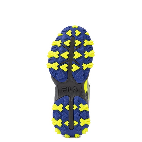 alternate view Fila Oakmont TR Athletic Shoe - Big Kid - Safety Yellow / Dark Shadow / Mazarine BlueALT3
