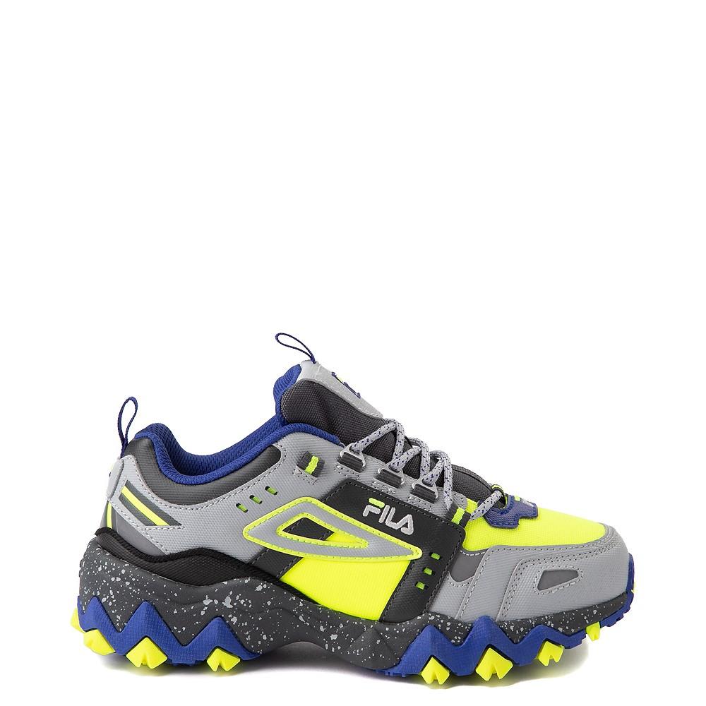 Fila Oakmont TR Athletic Shoe - Big Kid - Safety Yellow / Dark Shadow / Mazarine Blue