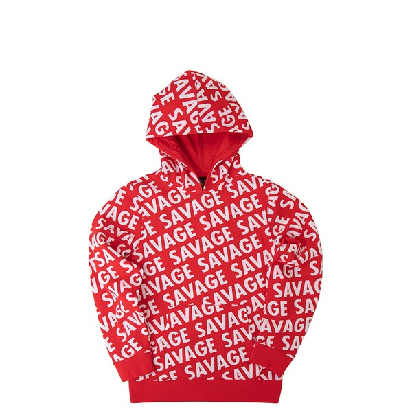 Main view of Savage Hoodie - Little Kid / Big Kid - Red
