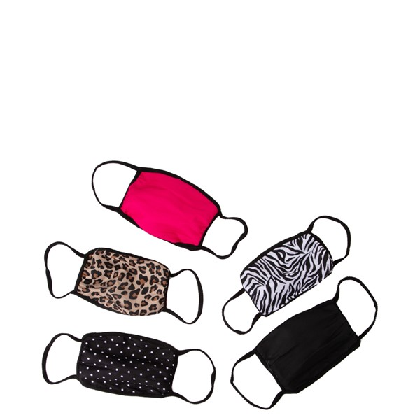 Main view of Womens Face Cover 5 Pack - Multicolor