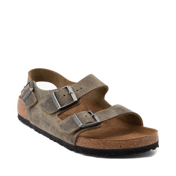 alternate view Mens Birkenstock Milano Sandal - Faded KhakiALT5
