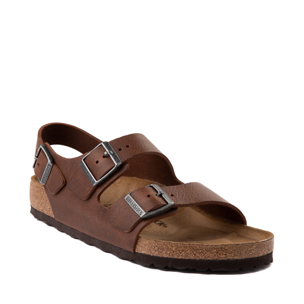 alternate view Mens Birkenstock Milano Sandal - Vintage Wood RoastALT5
