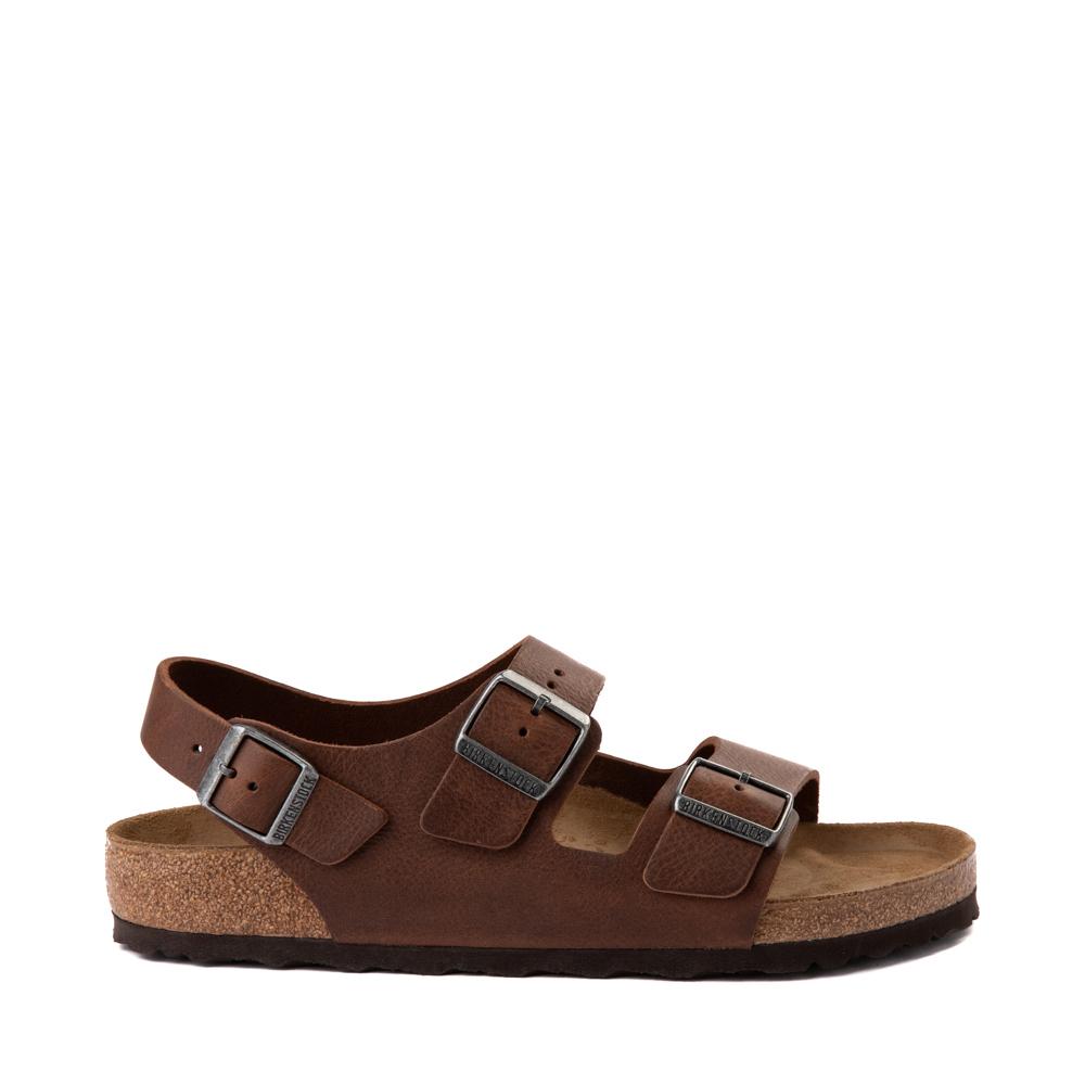 Mens Birkenstock Milano Sandal - Vintage Wood Roast