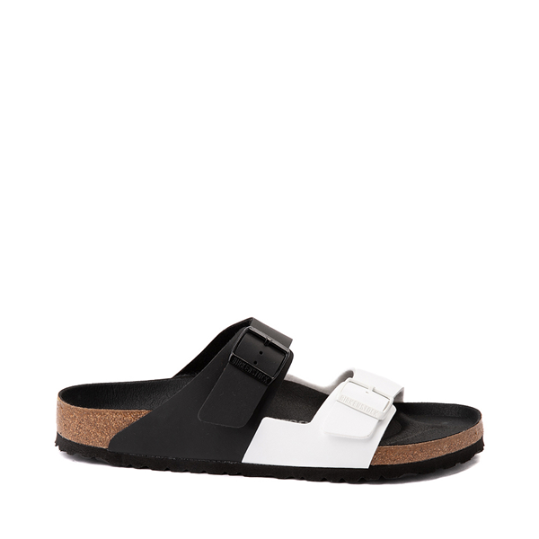 Main view of Mens Birkenstock Arizona Split Sandal - Black / White