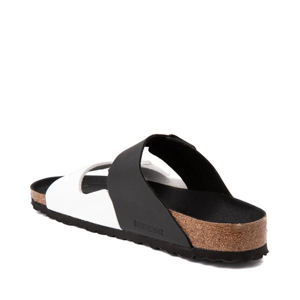 alternate view Mens Birkenstock Arizona Split Sandal - Black / WhiteALT1