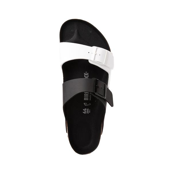alternate view Mens Birkenstock Arizona Split Sandal - Black / WhiteALT2
