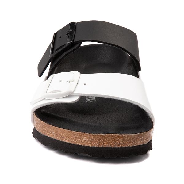 alternate view Mens Birkenstock Arizona Split Sandal - Black / WhiteALT4
