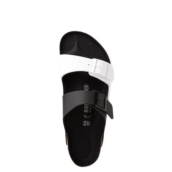 alternate view Mens Birkenstock Arizona Split Sandal - Black / WhiteALT4B