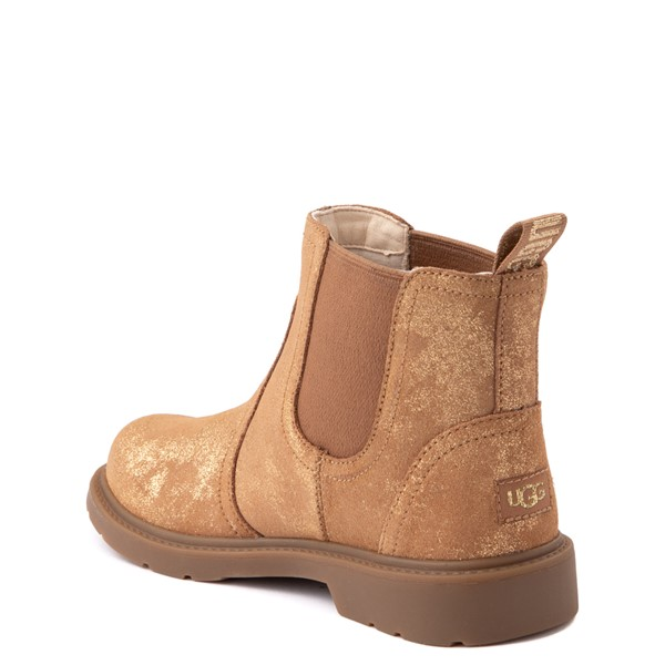 alternate view UGG® Bolden Metallic Chelsea Boot - Little Kid / Big Kid - GoldALT2