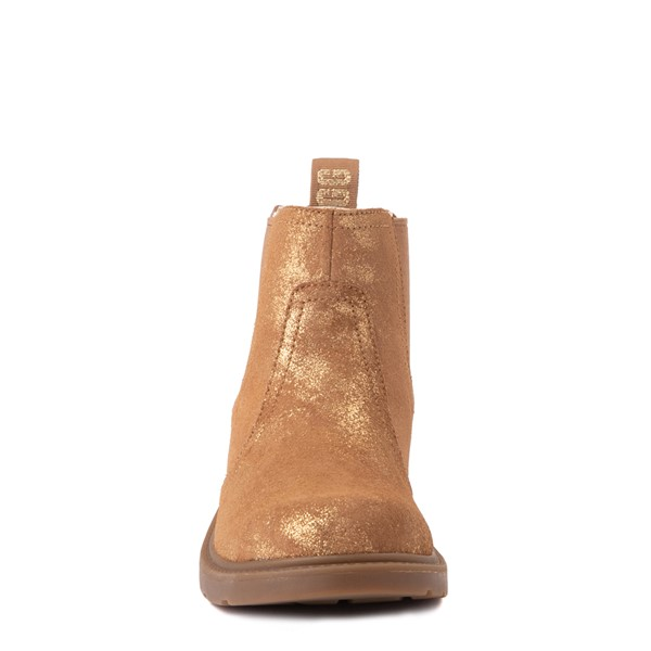 alternate view UGG® Bolden Metallic Chelsea Boot - Little Kid / Big Kid - GoldALT4
