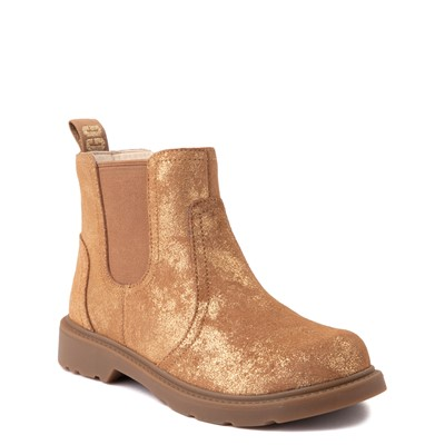 Alternate view of UGG® Bolden Metallic Chelsea Boot - Little Kid / Big Kid - Gold