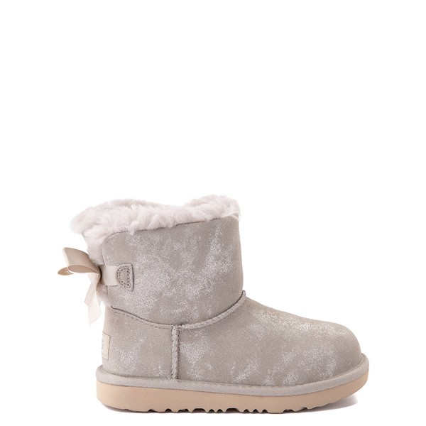 Main view of UGG® Mini Bailey Bow II Shimmer Boot - Little Kid / Big Kid - Goat