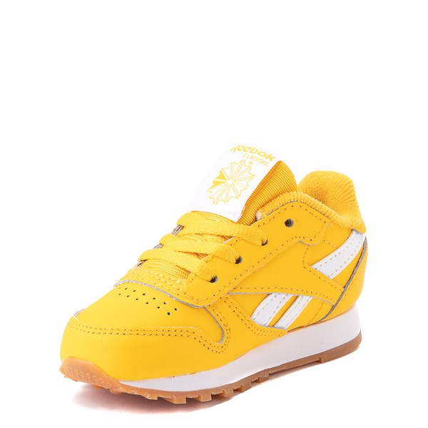 alternate view Reebok Classic Athletic Shoe - Baby / Toddler - Toxic YellowALT3