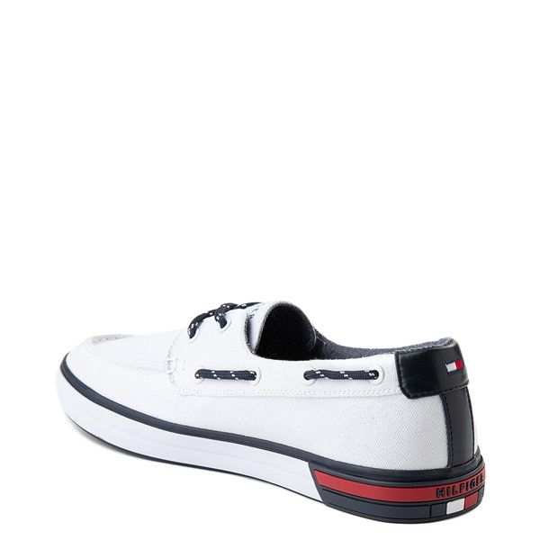 alternate view Mens Tommy Hilfiger Realm Boat Shoe - WhiteALT1