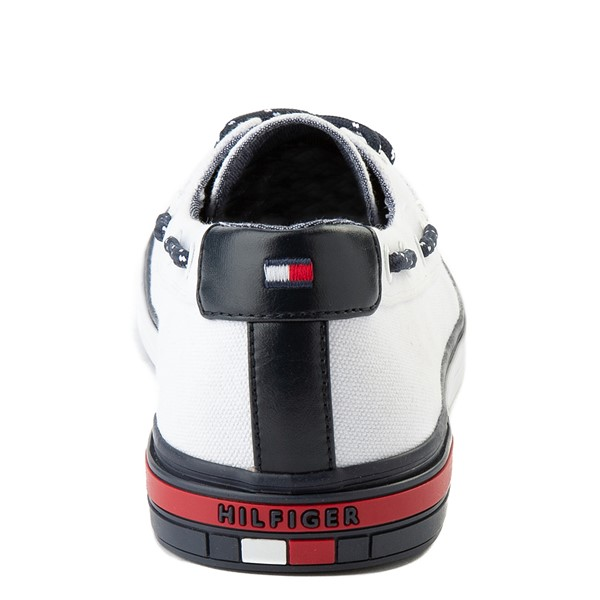 alternate view Mens Tommy Hilfiger Realm Boat Shoe - WhiteALT2B