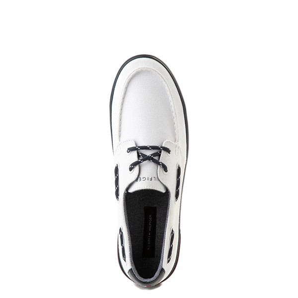 alternate view Mens Tommy Hilfiger Realm Boat Shoe - WhiteALT4B