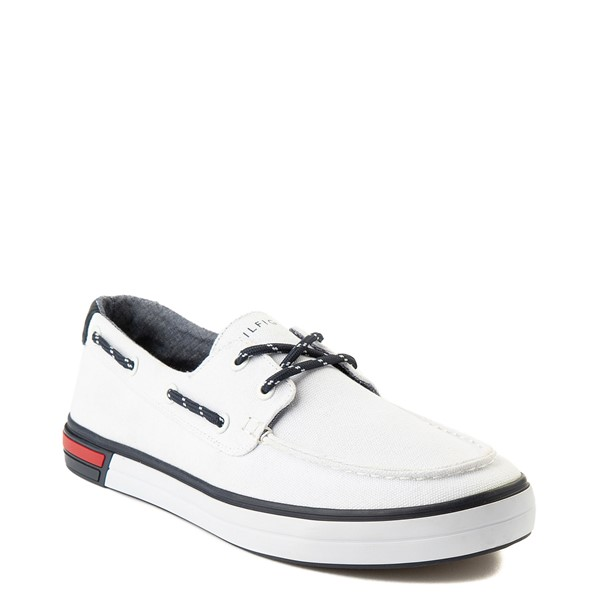 alternate view Mens Tommy Hilfiger Realm Boat Shoe - WhiteALT5