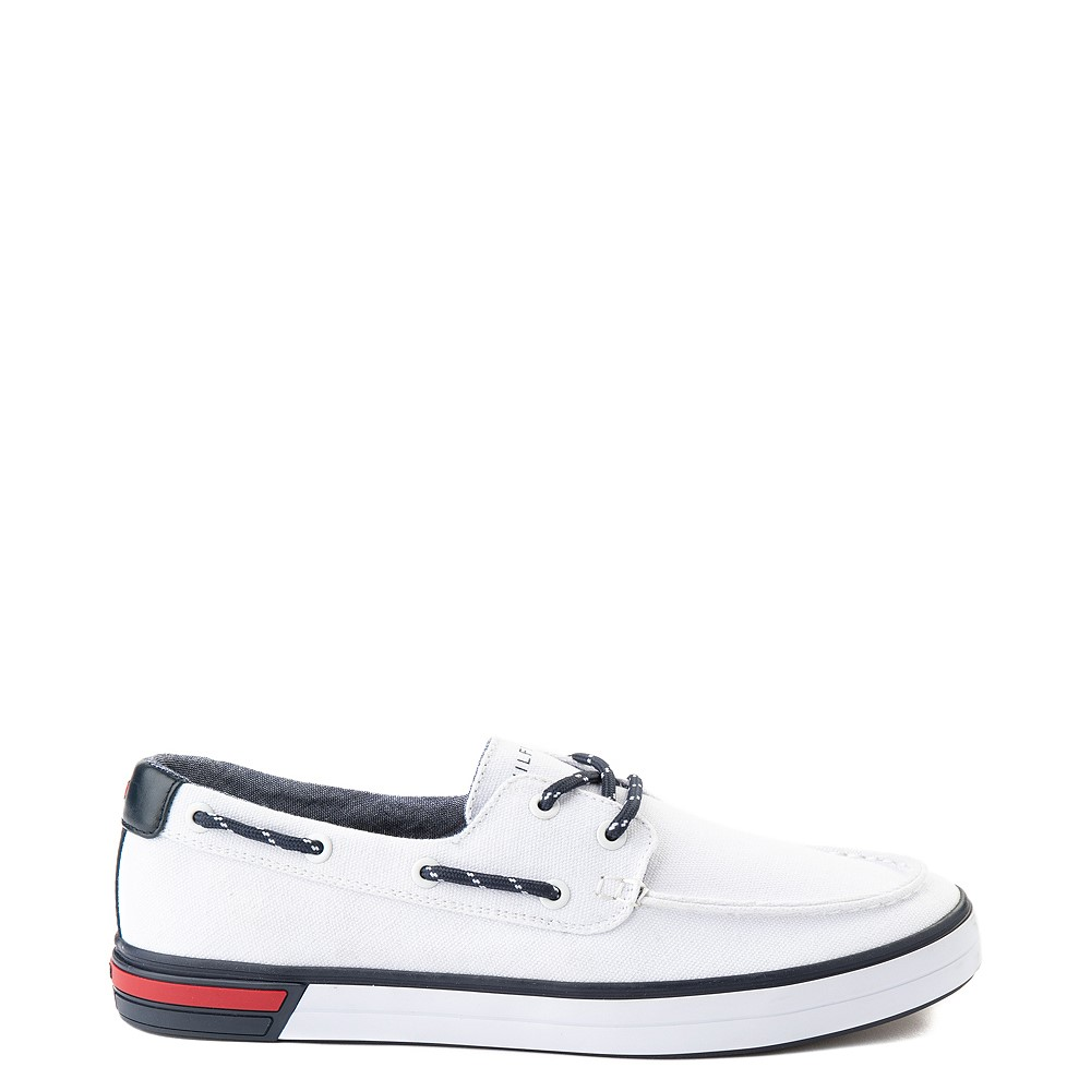 Mens Tommy Hilfiger Realm Boat Shoe - White