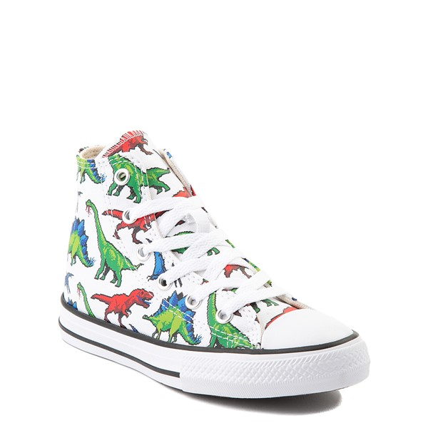 alternate view Converse Chuck Taylor All Star Hi Dinos Sneaker - Little Kid / Big Kid - WhiteALT1B