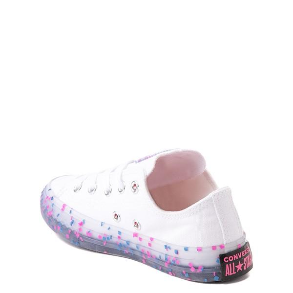 alternate view Converse Chuck Taylor All Star Lo Stuff Inside Sneaker - Little Kid / Big Kid - White / Bold PinkALT1