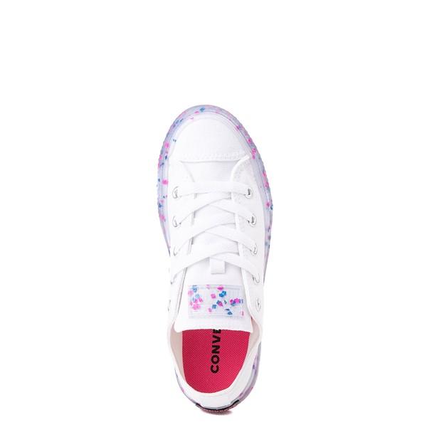 alternate view Converse Chuck Taylor All Star Lo Stuff Inside Sneaker - Little Kid / Big Kid - White / Bold PinkALT2