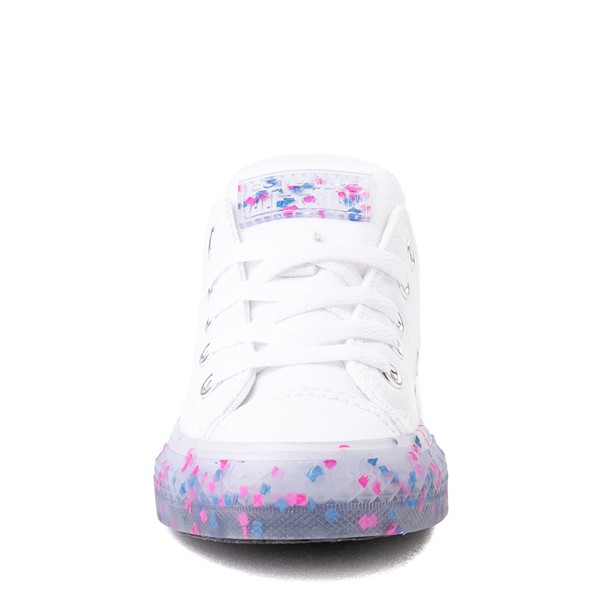 alternate view Converse Chuck Taylor All Star Lo Stuff Inside Sneaker - Little Kid / Big Kid - White / Bold PinkALT4