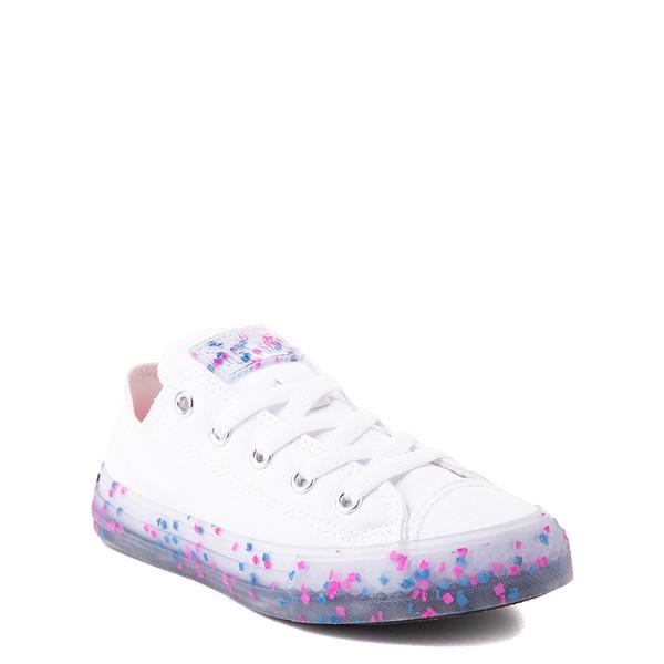 alternate view Converse Chuck Taylor All Star Lo Stuff Inside Sneaker - Little Kid / Big Kid - White / Bold PinkALT5