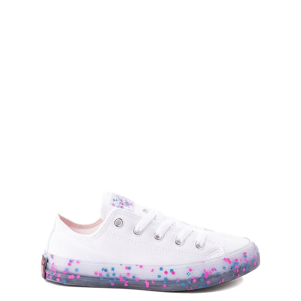 Converse Chuck Taylor All Star Lo Stuff Inside Sneaker - Little Kid / Big Kid - White / Bold Pink