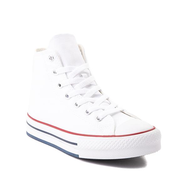 alternate view Converse Chuck Taylor All Star Hi Platform Sneaker - Little Kid / Big Kid - WhiteALT5